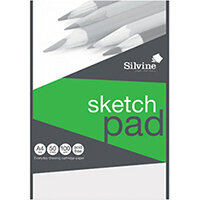 Silvine Drawing Pad Acid Free Cartridge Paper 50 Sheets A4 474