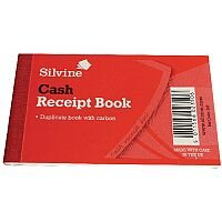 Silvine Duplicate Gummed Receipt Book Pack of 36 228