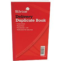 "Silvine Duplicate Delivery Book 8.25x5"" Pack of 6"