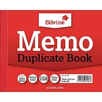 "Silvine Red Duplicate 4x5"" Memo Book Pack of 12 603"