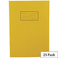 Silvine Tough Shell Exercise Book A4 Feint Ruled with Margin Yellow EX141