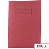 Silvine Tough Shell Exercise Book A4 Feint Ruled with Margin Red EX142