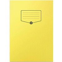 Silvine Bacoff Exercise Book Ruled with Margin A4 Yellow Pack of 10 EXBAC141