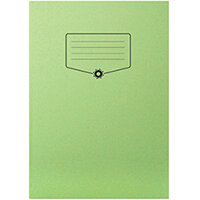 Silvine Bacoff Exercise Book Ruled with Margin A4 Green Pack of 10 EXBAC143