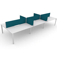 Switch 6 Person Bench Desk With Privacy Screens W 3x2000mm x D 2x600mm