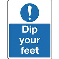 Sign Dip Your Feet Rigid Plastic 300x100