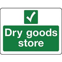 Sign Dry Goods Store Rigid Plastic 300x100