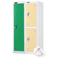 1 Door Low Locker Depth:305mm Green Door