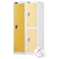 1 Door Low Locker Depth:305mm Yellow Door