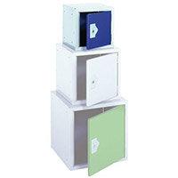 """Locker 12"""" Sq Cube-Blue Door 305x305x305 Plain"""