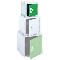 """Locker 12"""" Sq Cube-Green Door 305x305x305 Plain"""