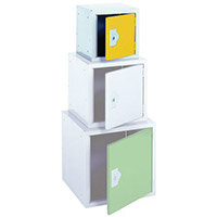 Cube Locker 300Hx300Wx300D mm Cam Lock Door Colour Yellow