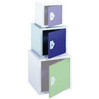 """Locker 15"""" Sq Cube-Blue Door 381x381x381 Plain"""