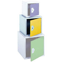 Cube Locker 380Hx380Wx380D mm Cam Lock Door Colour Yellow