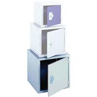 "Locker 18"" Cube Light Grey Door 457x457x457 Plain"