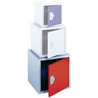 "Locker 18"" Cube Red Door 457x457x457 Plain"