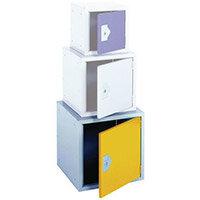 Cube Locker 450Hx450Wx450D mm Cam Lock Door Colour Yellow