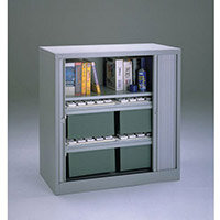 Cupboard Tambour Side Opening Small Hxwxd: 1016X1000X470mm Grey