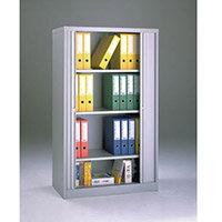 Cupboard Tambour Side Opening Medium Hxwxd: 1651X1000X470mm Grey