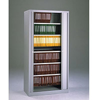 Cupboard Tambour Side Opening Large Hxwxd: 1968X1000X470mm Grey