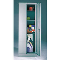 Office Cupboard 1820mm Highx615mm Wide Light Grey Body & Blue Doors