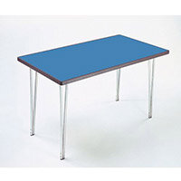 Aluminium Canteen Folding Table With Polyedge and Blue Laminate Table Top W1520xD760xH698mm - Stackable & Foldable For Easy Transportation
