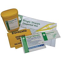 Biohazard Sharps Disposal Unit - Single