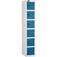 6 Door Locker D:305mm White Body & Blue Door