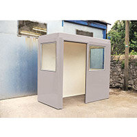 Waiting Shelter  With Windows Grey L:2400 W:1200 H:2250mm