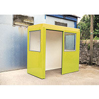 Waiting Shelter  With Windows Yellow L:2400 W:1200 H:2250mm