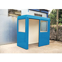 Waiting Shelter  With Windows Blue L:2400 W:2400 H:2300mm