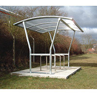 Canterbury Shelter Flanged Polycarbonate Roof Extension Bay