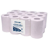 Advanced Wiper 415 1-Ply 300m White Mini Centrefeed Roll Pack of 12