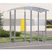 Steel Framed 2M Smoking/Vaping Shelter And Perch Seat Freestanding 370056