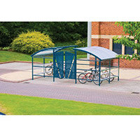 Lockable Cycle Compound For 16 Bikes Blue