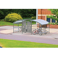Lockable Cycle Compound For 16 Bikes Light Grey