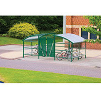 Lockable Cycle Compound For 48 Bikes Green