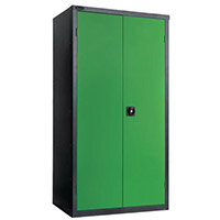 Black Carcass Cupboard Standard Green With 3 Shelves