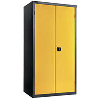 Black Carcass Cupboard Standard Yellow With 3 Shelves