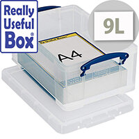 Really Useful Box 9L Clear Transparent Container Pack 1