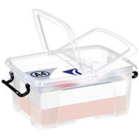 Strata Smart Box 12L - Transparent boxes with secure folding lids