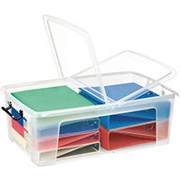 Strata Smart Box 50L - Transparent Boxes with Secure Folding Lids