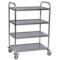 4 Tier Stainless Service Trolley