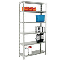 Bolted Shelving Starter Bay Grey 2500x900x300