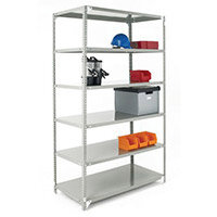 Bolted Shelving Starter Bay Grey 2500x1200x300