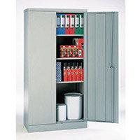 Office Cupboard 1820mm Highx915mm Wide Light Grey Body & Doors