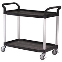 Large 2 Shelf Service Cart Open Sided Cart