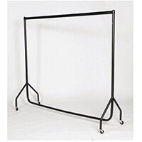 Black Heavy Duty Clothes Rail 2Ft Long X 5Ft High
