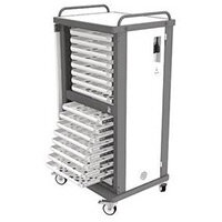 Lapstore Secure Charge Trolley For Up To 16 Large Size Laptops Light Grey & Black 16 Drawers - 1 Compartment in Each