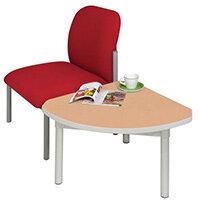 Enviro Quadrant Coffee Table Silver Anodised Frame Beech Top Light Grey Edge